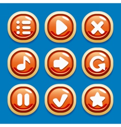 Collection of buttons for gaming interfaces vector