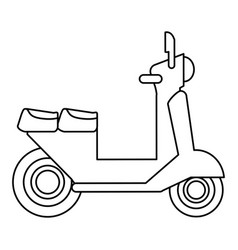 scooter transport vehicle image vector image