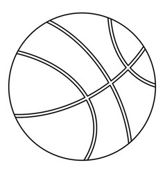 Basketball icon outline style vector