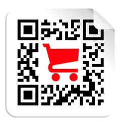 Buy label sign qr code vector