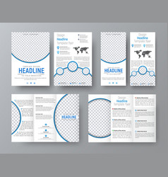 Templates of flyers brochures of standard size vector