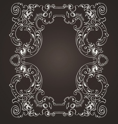 Ornate frame on brown vector