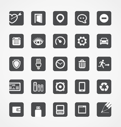 Modern square web icons collection vector