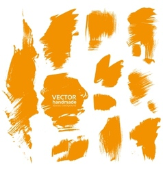 Brush orange paint texture vector image
