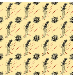 Tattoo seamless pattern vector