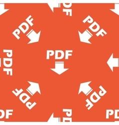 Orange PDF download pattern vector image
