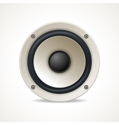 Vintage white audio speaker vector