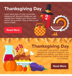 Thanksgiven banner vector