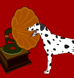 Phonograph and dalmation vector