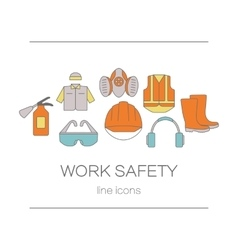 Concept of title site page or banner for safety vector