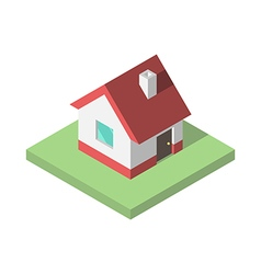Beautiful small isometric house vector