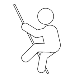 Pole vault pictogram icon vector