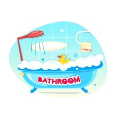 Bathroom concept design vector