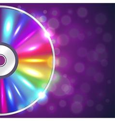 Cd-drive on musical background vector image vector image