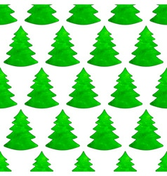 Christmas watercolor tree pattern vector image vector image