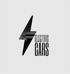 electric car flyer banner vector image vector image