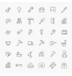 Icons set - construction home repair tools vector