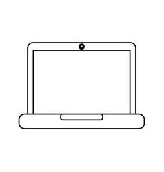 laptop computer device technology digital screen vector image vector image