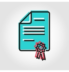 Line patent icon vector