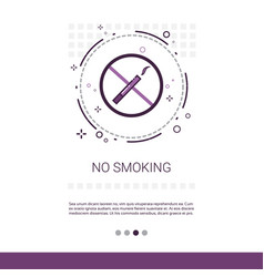 No smoking public sign banner with copy space vector