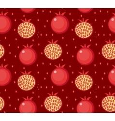 Pomegranate seamless pattern garnet fruit endless vector