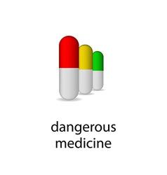 Realistic set pills mockup medical poster or logo vector