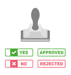 rejected approved stamps vector image