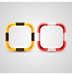 Rounded rectangle icon base vector image