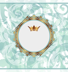 Royal background with golden ornate frame and vector