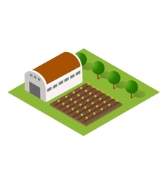 rural landscape with nature vector image