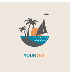 sailboat and yacht icon vector image vector image