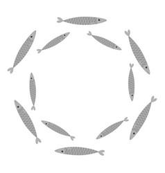 sardine gray fish set iwashi sardina pilchardus vector image vector image