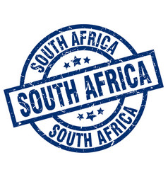 South africa blue round grunge stamp vector