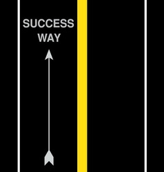 Success street road vector