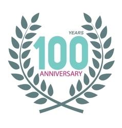 Template Logo 100 Anniversary in Laurel Wreath vector image