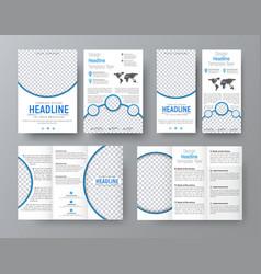 Templates of flyers brochures of standard size vector