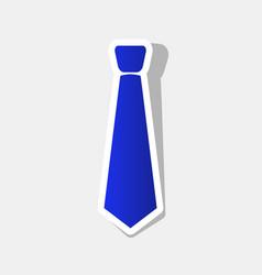 Tie sign new year bluish vector