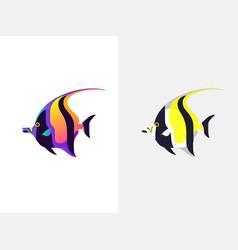tropical fish moorish idol vector image vector image