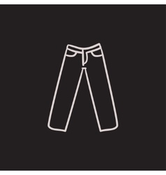 Trousers sketch icon vector image