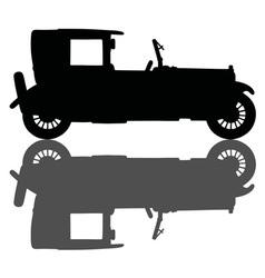 Vintage black limousine vector