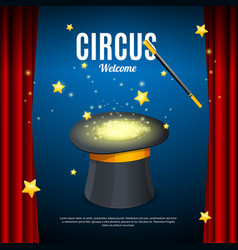 Welcome to circus poster card template vector