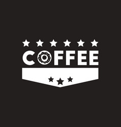 White icon on black background coffee vector
