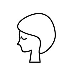 woman face in spa line icon sign vector image