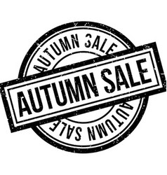 Autumn sale rubber stamp vector