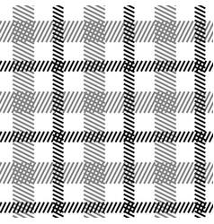tartan black white seamless pattern vector image