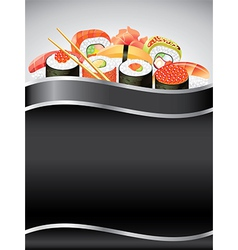 Sushi vertical background vector