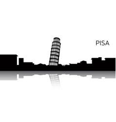 cityscape of pisa vector image