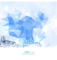 Modern winter abstract background vector