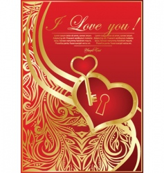 Abstract valentine card with hearts vector