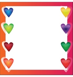 Bright frame - in love vector image